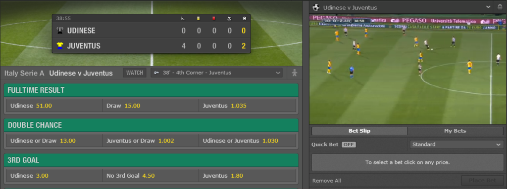Bet365 Live Betting and Live Stream